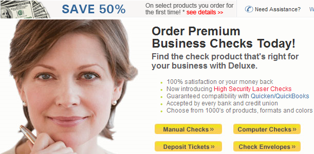 Business Checks Forms Invoices Custom Printed by Deluxe 1304092918725 Deluxe Business Checks