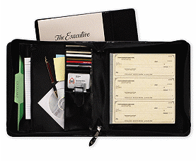 Check Binders 3 On A Page Executive Deskbook Portfolio 1433N by Deluxe Business Check Binders