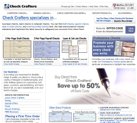 CheckCrafters Business Checks Bank Checks and Computer Checks tm Check Crafters Business Checks